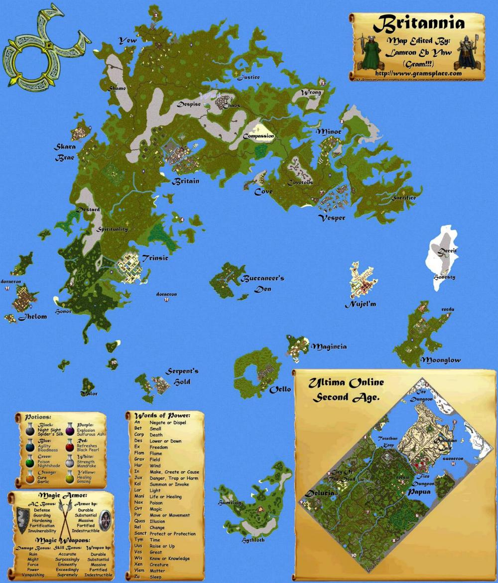Ultima Online: The Second Age map