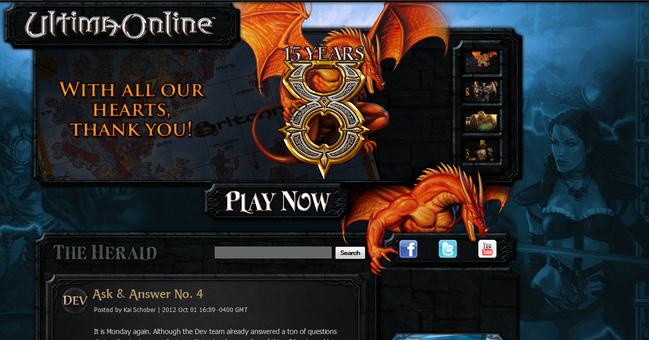 Ultima Online reNew site